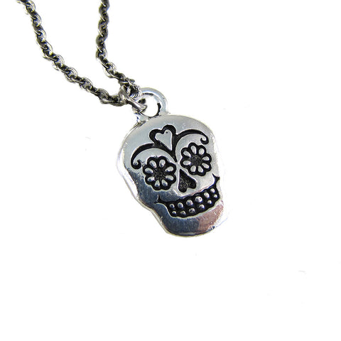 Ornamental Things - Sugar Skull Necklace - The Giant Peach