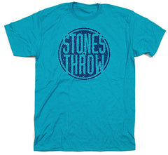 Stones Throw - Summer 2012 Men's Tee, Aqua/Blue - The Giant Peach