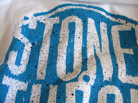 Stones Throw - Summer 2012 Men's Tee, White/Aqua
