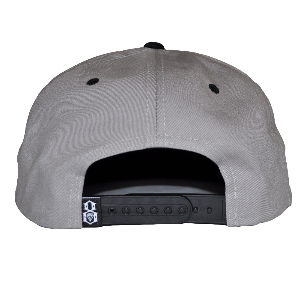 REBEL8 - Sun Burnt Snapback Hat, Grey - The Giant Peach - 2