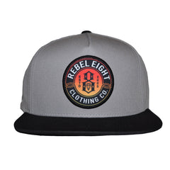 REBEL8 - Sun Burnt Snapback Hat, Grey - The Giant Peach - 1