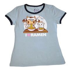 tokidoki - Super Ramen Women's Tee, Blue Heather Grey