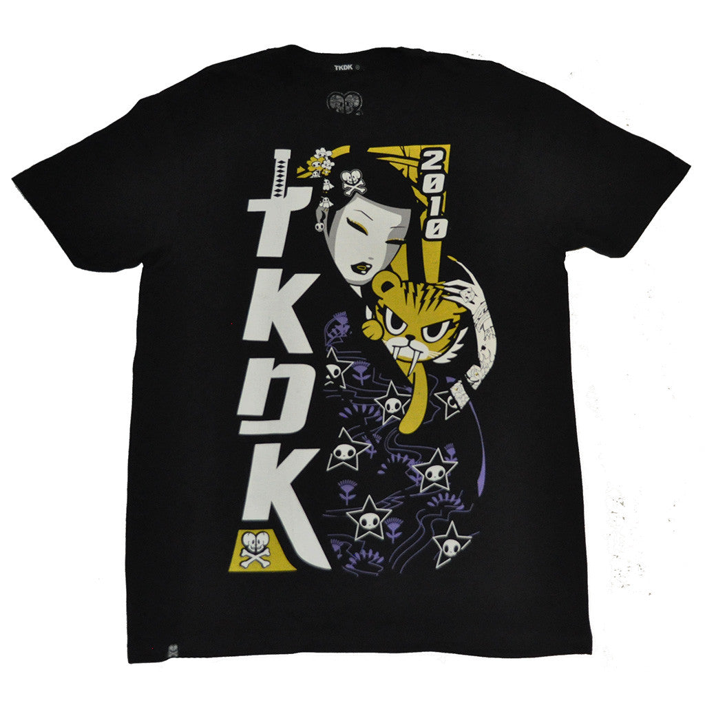 tokidoki TKDK - Super Samurai Men's Shirt, Black - The Giant Peach