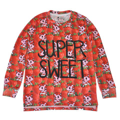 tokidoki - Super Sweet Women's L/S Shirt, Red - The Giant Peach