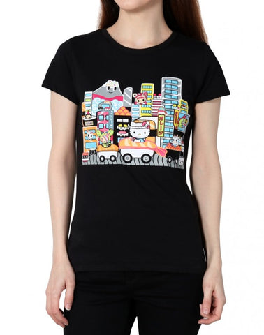 tokidoki x Hello Kitty - Sushi Car Kitty Women's Tee, Black