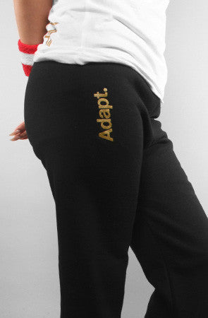 Adapt - Gold Blooded Women's Sweatpants, Black - The Giant Peach