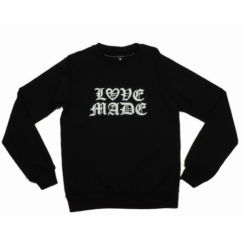 Lovemade - Thug Made Women's Crewneck Sweatshirt, Black