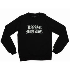 Lovemade - Thug Made Women's Crewneck Sweatshirt, Black - The Giant Peach - 2