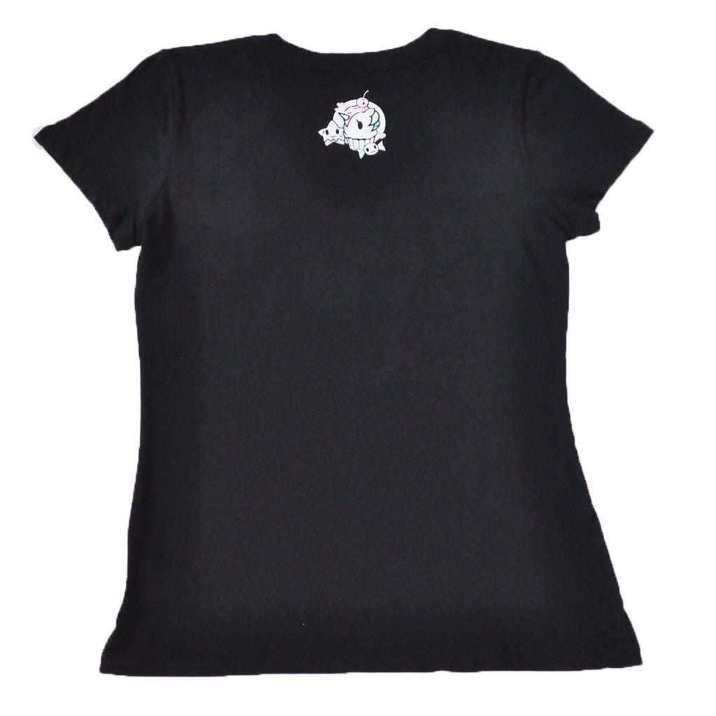 tokidoki - Sweet Cakes Women's Tee, Black - The Giant Peach - 2
