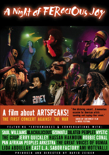 The ArtSpeaks! Not In Our Name - A Night Of Ferocious Joy, DVD - The Giant Peach