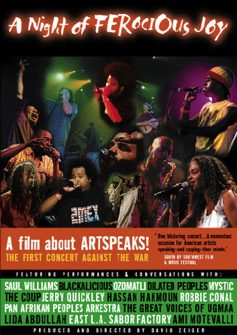 The ArtSpeaks! Not In Our Name - A Night Of Ferocious Joy, DVD