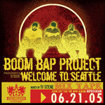 Boom Bap Project - Welcome to Seattle (Mixed by DJ Scene), Mixed CD - The Giant Peach