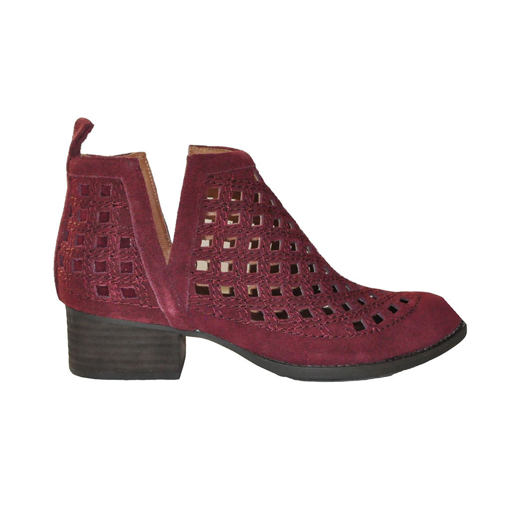 Jeffrey Campbell - Taggart-2 Bootie, Wine Suede - The Giant Peach - 1