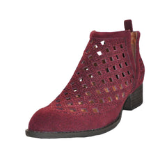 Jeffrey Campbell - Taggart-2 Bootie, Wine Suede - The Giant Peach - 2