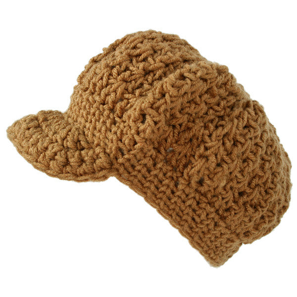 Nefra - V-Ball Crocheted Cap, Tan - The Giant Peach