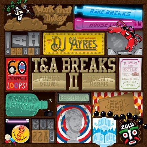 DJ Ayres - T&A Breaks II, LP Vinyl - The Giant Peach