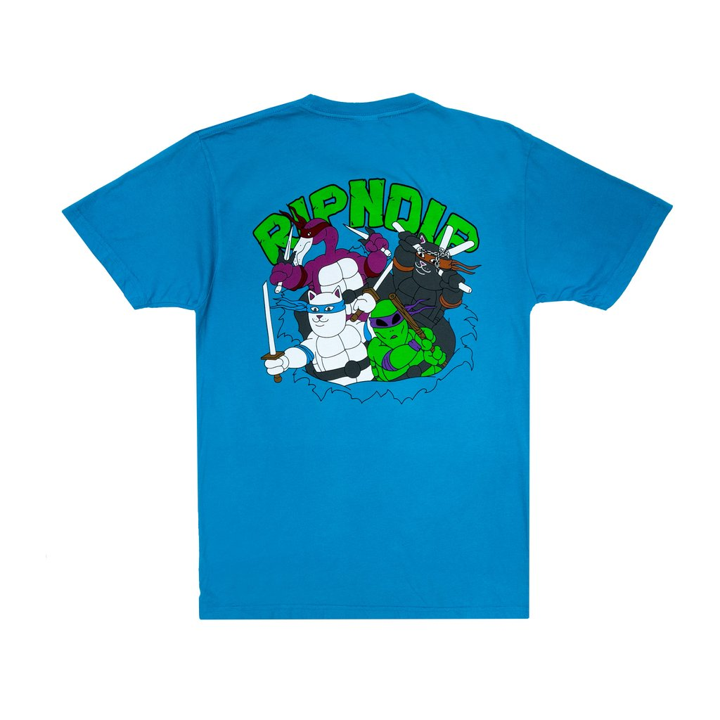 RIPNDIP - Teenage Mutant Men's Tee, Blue