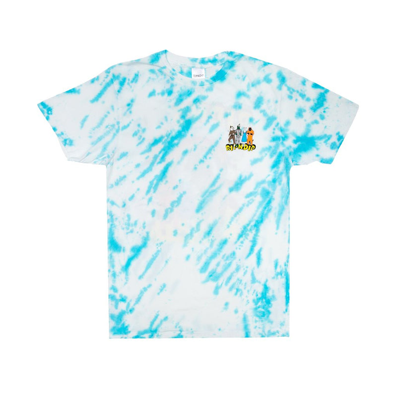RIPNDIP - No Place Like Home Men's Tee, Blue Stripe Tie Dye