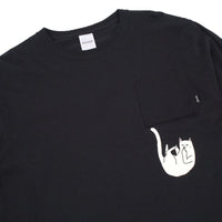 RIPNDIP - Falling for Nermal Men's L/S Shirt, Black - The Giant Peach