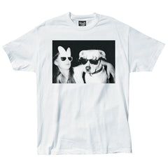 The Quiet Life - Doggy Photo Men's Shirt, White - The Giant Peach