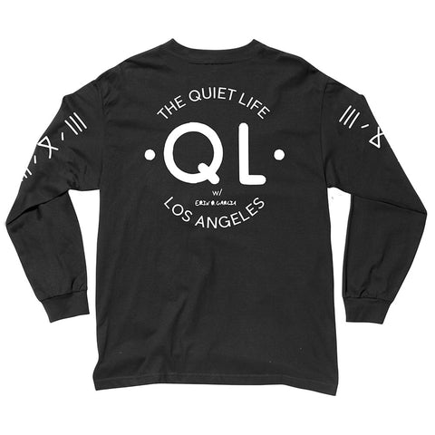 The Quiet Life - Garcia Logo Men's L/S Shirt, Black