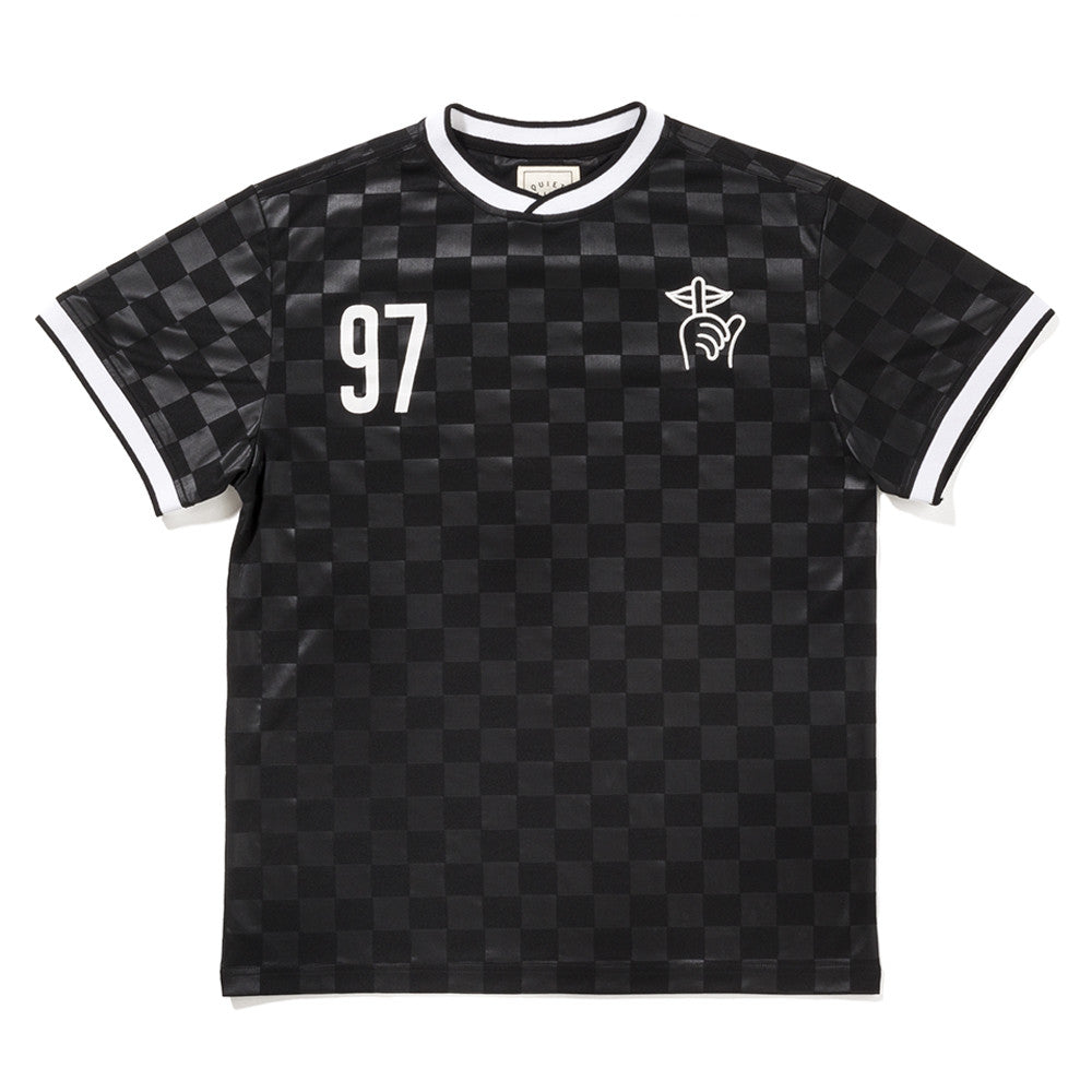 The Quiet Life - Goalie Men's Soccer Jersey, Black - The Giant Peach
