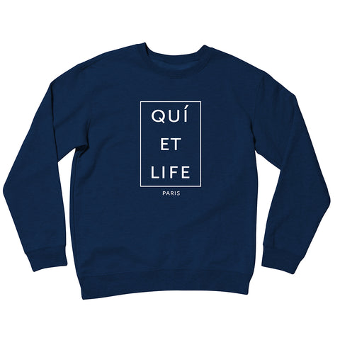 The Quiet Life - Paris Men's Crewneck, Navy