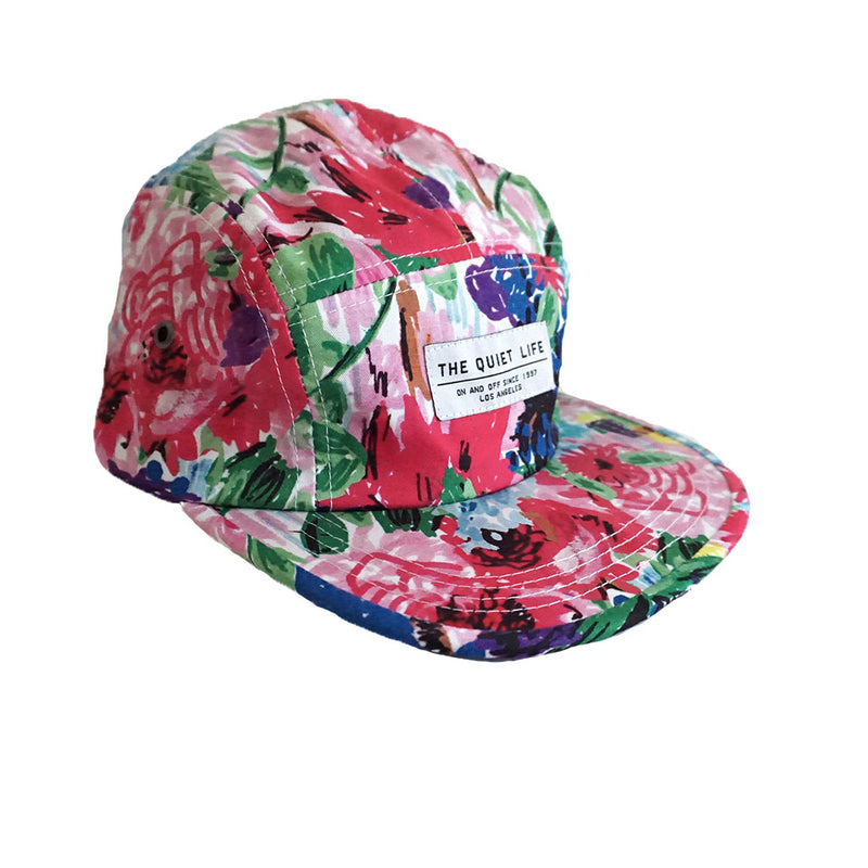 The Quiet Life - Take A Break Floral 5 Panel Camper Hat, Floral