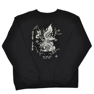 The Quiet Life x Eric Kenney - Bring Me Down Men's Crewneck, Black - The Giant Peach