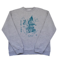 The Quiet Life - Bring Me Down Men's Crewneck, Heather Grey