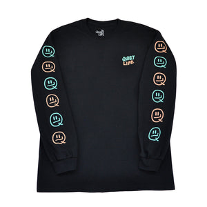 The Quiet Life x Will Bryant - Bryant Men's L/S Shirt, Black - The Giant Peach