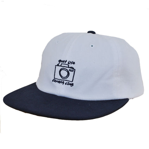The Quiet Life - Camera Club Men's Polo Hat, White/Navy