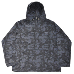 The Quiet Life - Camo Windy Pullover Men's Windbreaker, Navy - The Giant Peach
