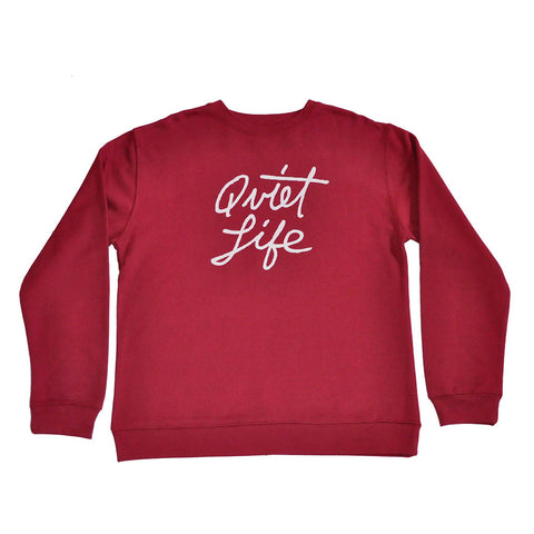 The Quiet Life - Cursive Men's Crewneck, Cardinal