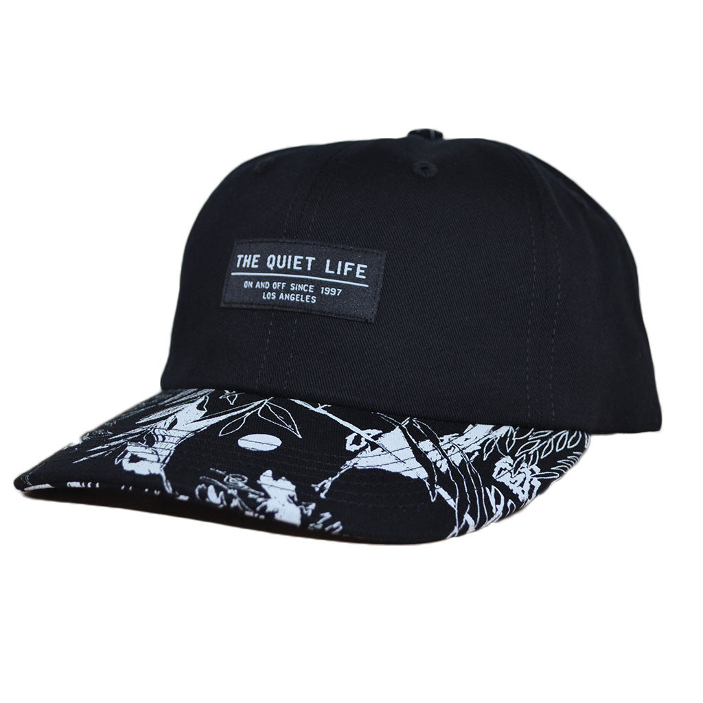 The Quiet Life - Flora Men's Polo Hat, Black - The Giant Peach