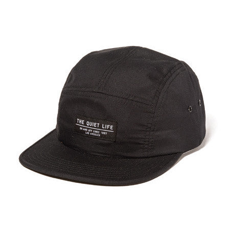 The Quiet Life - Foundation Men's 5 Panel Hat, Black - The Giant Peach