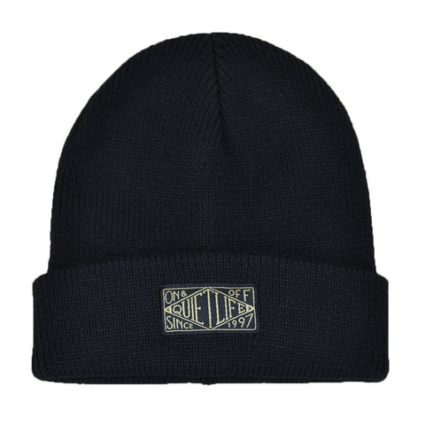 The Quiet Life - Gold Label Beanie, Black - The Giant Peach