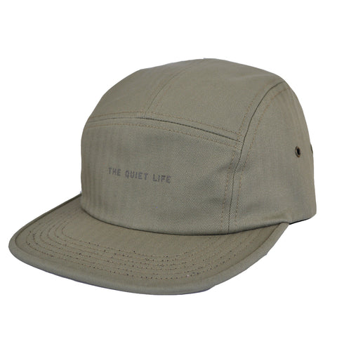 The Quiet Life - Herringbone Men's 5 Panel Camper Hat, Bark