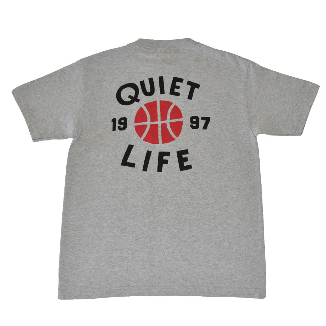 The Quiet Life - Hoops Men's Shirt, Heather Grey - The Giant Peach - 1