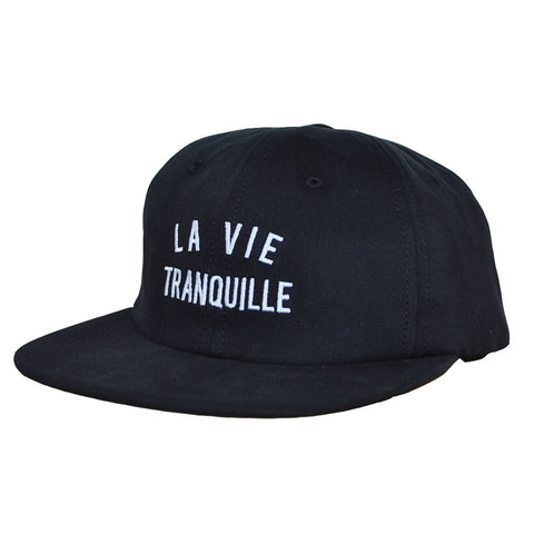 The Quiet Life - La Vie Tranquille Men's Polo Hat, Black