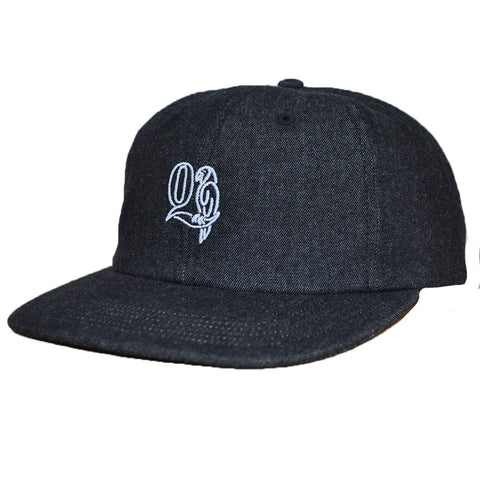 The Quiet Life - Macaw Men's Polo Hat, Black Denim