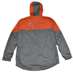 The Quiet Life - MC Men's Windbreaker, Orange/Grey - The Giant Peach