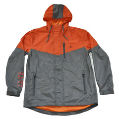 The Quiet Life - MC Men's Windbreaker, Orange/Grey - The Giant Peach - 1