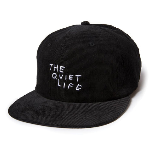 The Quiet Life x Nathan Bell  - Nathan Scratch Relaxed Snapback Hat, Black
