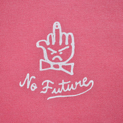 The Quiet Life - No Future Pigment Dyed Men's Hoodie, Pink - The Giant Peach