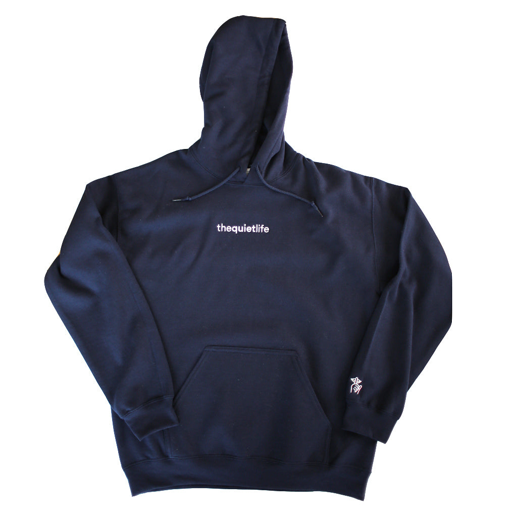 The Quiet Life - Origin Embroidered Pullover Men's Hood, Navy