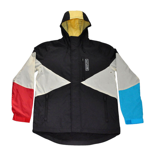 The Quiet Life - Pacific Men's Windbreaker, Black/Red/Blue