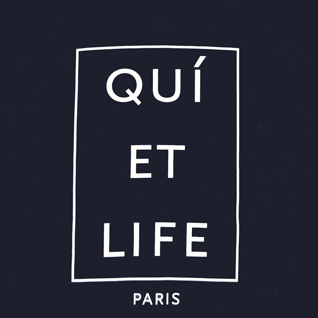 The Quiet Life - Paris Men's Crewneck, Navy - The Giant Peach