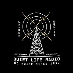 The Quiet Life - Radio Pullover Men's Hoodie, Black - The Giant Peach