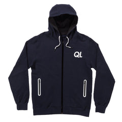 The Quiet Life - Reflective Men's Zip Up Hoodie, Navy - The Giant Peach